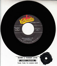 "PERCY SLEDGE  Warm And Tender Love & Take Time To Know Her 7"" 45 rpm record"