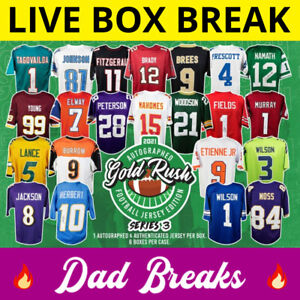 CHICAGO BEARS Gold Rush autographed/signed football jersey LIVE BOX BREAK