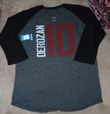 NEW NBA DeMar Derozan Toronto Raptors 3/4 Jersey T Shirt Men S Tri Blend NWT