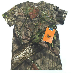 Field & Stream Youth Short Sleeve Hunting Camo T-Shirt Mossy Oak Country Size L