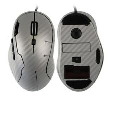 Skinomi Carbon Fiber Silver Skin Cover Gaming Mouse Protector for Logitech G500