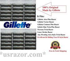 *30 Gillette Atra Plus Razor Blades Cartridge Refill Fit Schick Slim Twin Shaver