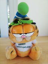 """1981 Garfield Bummer I Wanted To Party All Nite Garfield Plush Toy 8"""" 21cm"""