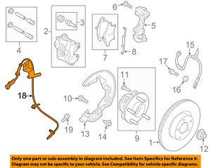 FORD OEM ABS Anti-lock Brakes-Front Speed Sensor JG9Z2C204A