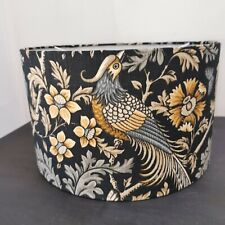 NEW HANDMADE LAMPSHADE Parrot exotic style grey black ochre ..