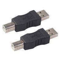 Lot de 2 adaptateurs d'imprimante USB type A mâle vers USB type B mâle