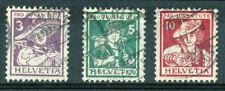 Gestempelte Schweizer Bundespost-Briefmarken (bis 1944)