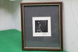 Original Mario Avati Framed Signed Etching Thankyou Card Depicting A Nude