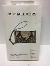 Michael Kors iPhone 4/4S/3GS Wallet Clutch Case Natural Tan python Leather