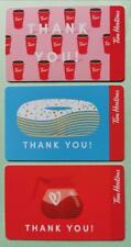 """TIM HORTONS GIFT CARDS ~""""THANK YOU"""" ~Set of 3 ~FREE SHIPPING ~Unloaded"""