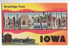 [48346] Old Large Letter Postcard Greetings From Estherville, Iowa