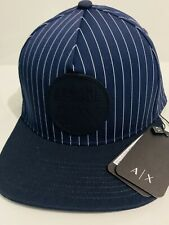 New Armani Exchange AX Mens HAT WITH STRAIGHT VISOR