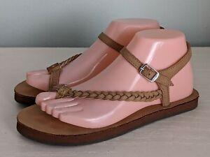 Rainbow Sandals Marley Dark Brown Leather Single Layer Size 7