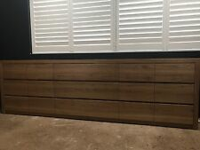 Australian Made Solid Blackbutt Hardwood Timber Chest Of Drawers 3m Wide Storage