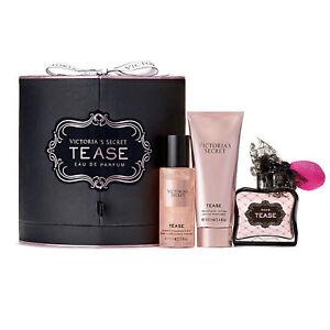 Victoria's Secret TEASE 3pc Gift Set in Box - Eau De Parfum Shimmer Mist Lotion