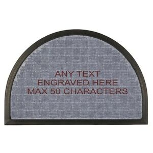 Personalised Engraved Grey Any Text Heavy Duty Non Slip Door Mat 60cm x 40cm