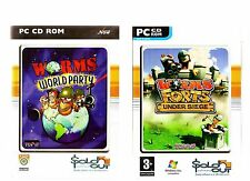 WORMS WORLD PARTY & WORMS FORTS UNDER SIEGE. 2 STRATEGY/ACTION GAMES FOR THE PC!