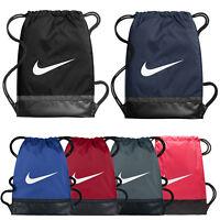 Nike Brasilia Sports Gymsack Training Gym Bag Sack Drawstring PE Team Kit Tote