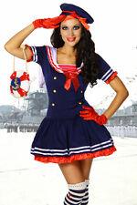 Sexy Damen Marine Kostüm Marinekostüm Karneval blau Fasching Gr. S M 36 38 #117