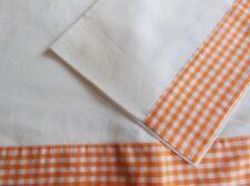 Ancien parure drap vichy Vintage de bébé, linge ancien