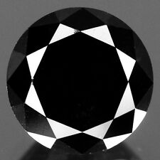 Diamant noir naturel de 2,06Cts (diam 8mm prof 6mm)