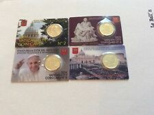 Lot de 4 coincards de 50 Cts Vatican