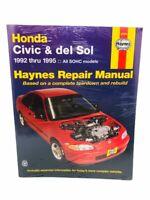 Haynes Honda Civic and del Sol (92 - 95) Manual (42024) Step By Step New Sealed