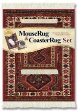 MouseRug  Mouse Pad & Matching Coaster Rug Set, Freud Design - New-