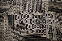 Black White Ethnic Print #26 100 Rayon Challis Sewing Shirt Apparel Fabric BTY