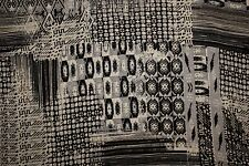 Black White Ethnic Print #26 100 Rayon Challis Sewing Shirt Apparel Fabric BTY