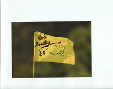 BOB GOALBY HAND SIGNED 5x7 COLOR PHOTO+COA        GOLF MASTERS FLAG
