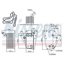 Nissens Ölkühler Motor Öl Kühler 90802