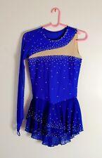 Women's Small Figure Skating Dress Blue