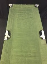 REYES Military Green Fold Up Portable Field Bed Cot Camping Nylon Great Cond.