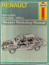 RENAULT 12 Haynes Officina Proprietari Manuale 1970-1979 tutti i modelli 1289cc