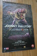 JOHNNY HALLYDAY FLASHBACK TOUR 2006 RARE AFFICHE POSTER ORIGINAL