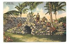 (A) Linen Pc Musa Isle, Wishing Well, Home of the Seminole Indians, Miami, Fla.