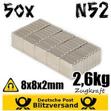 50x Neodym Magnet Quader 8x8x2mm  Whiteboard Magnete Geocaching Magneten basteln