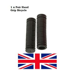HAND GRIP Soft Handlebar Grips Black BMX MTB Cycle Road Mountain-Bicycle-Scooter