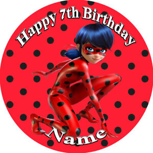 Miraculous Ladybug REAL EDIBLE ICING  CAKE TOPPER PARTY IMAGE FROSTING SHEET