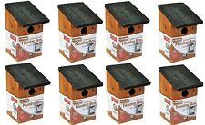 8 Wooden Nesting Box Bird House small birds Blue tit Robin sparrow 3cm Hole