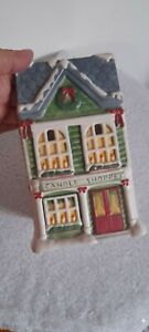 YANKEE CANDLE house shoppe Christmas tart burner wax melt ceramic rare