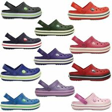 Crocs Crocband Kids Clogs Shoes Sandals in Grey, Green Purple, Red & Pink 10998