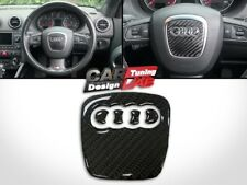 Carbon Steering Wheel Insert Sticker Emblem Logo For AUDI A4 S4 RS A5 Q5 A6 S5