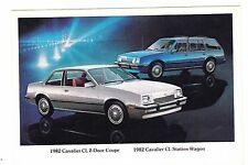 1982 CHEVROLET CAVALIER COUPE/WAGON -------------- POSTCARD