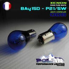 2 AMPOULE XENON BAY15D P21/5W  BLANC FEUX DE JOUR ANTI ERREUR ODB PEUGEOT 3008