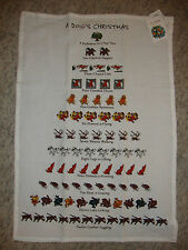 Dog Lovers 12 Days of Christmas Bar Kitchen Holiday Towel NWT
