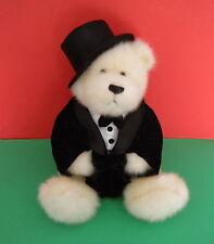 "Gund 45556 White Bear 15"" In Black Toxido Tie Hat Bag Plush Boys & Girls 3 + Toy"