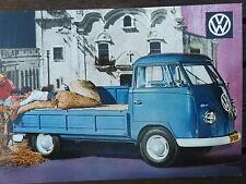 No. 56 Volkswagen Pick Up c1961 Postcard Vintage Ad Gallery VW217pc *RARE MINT