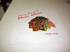 1990-1991  CHICAGO BLACK HAWK PHOTO ALBUM , ROENICK, CHELIOS  !!